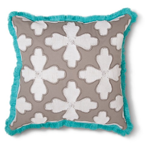 Xhilaration Floral Cord Applique Decorative Pillow : Target
