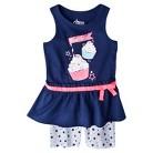 Circo® Infant Toddler Girls' Peplum Tank and Bike Short Set