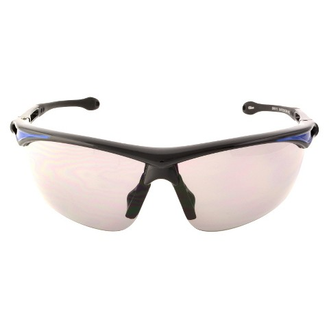 NASCAR Wrap-Around Semi-Rimless Sport Sunglasses - Black