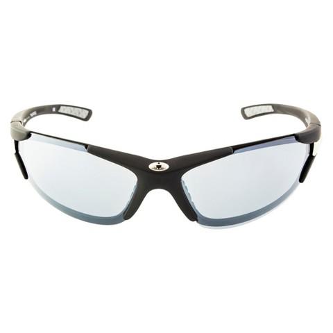 IRONMAN® Wrap-Around Semi-Rimless Sunglasses - Black/Silver