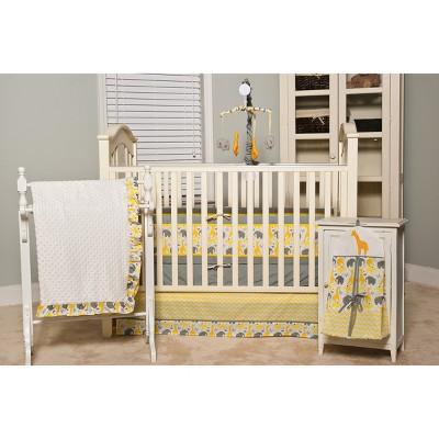 Pam Grace Creations 6pc Crib Bedding Set - Zig Zag Giraffe
