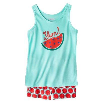 Xhilaration® Girls' 2-Piece Watermelon Tank Top and Short Pajama Set
