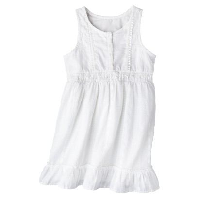 Girls' Sleeveless Button Front Shirt Dress