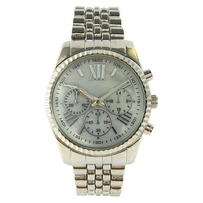 Women's Mossimo® Analog Watch with Decorative Dials - Silver