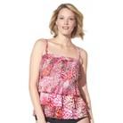 Women's Plus-Size 2 pc. Swimsuit - Pink&#...