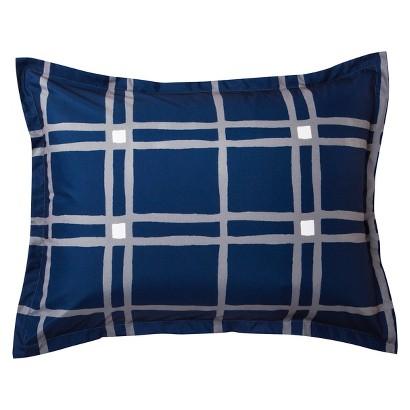 Room Essentials® Plaid Reversible Sham - Navy Blue