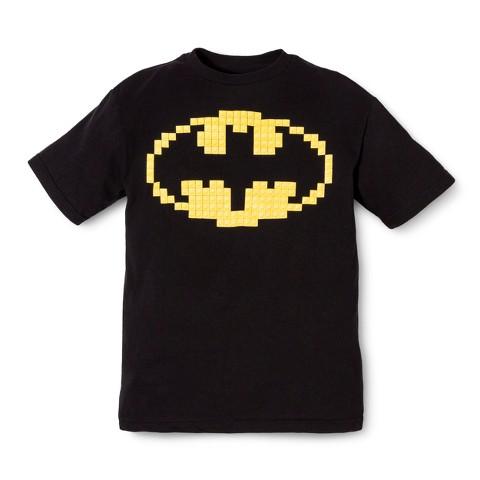 Batman Boys' Lego Print Tee - Black