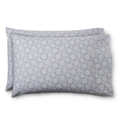 Easy Care Pillow Case - Aqua Sketchy Grid (Standard) - Room Essentials™