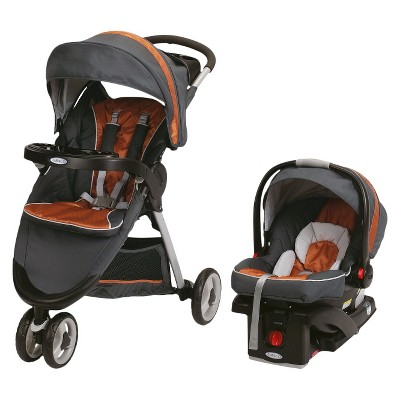 Graco® FastAction Fold Sport® Click Connect™ Travel System - Tangerine