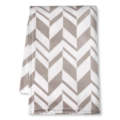 Room Essentials™ Micromink Printed Blanket - Grey (Full/Queen)