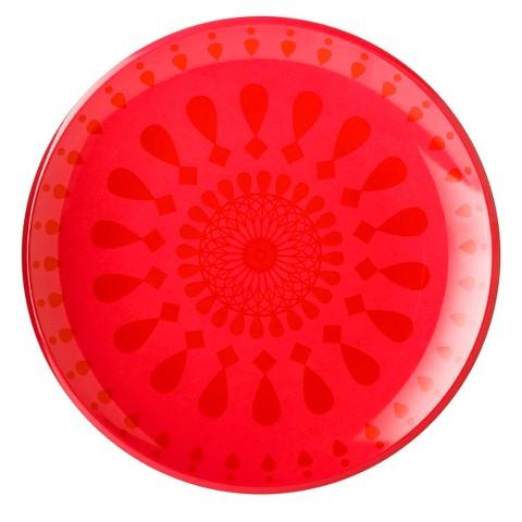 Summer Melamine Dinner Plate Set of 8 - Red