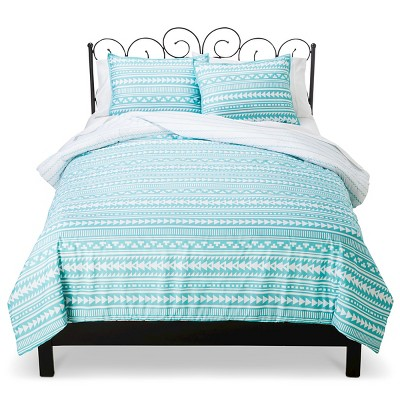 Xhilaration™ Tribal Stripe Comforter Set - Turquoise (Full/Queen)