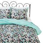 Xhilaration™ Ikat Cheetah Comforter Set - Black/Turquoise