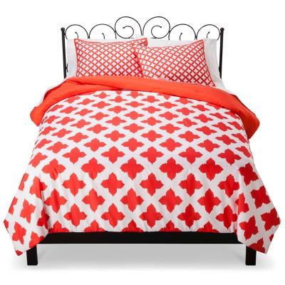 Xhilaration™ Star Reversible Comforter Set - Coral (Full/Queen)