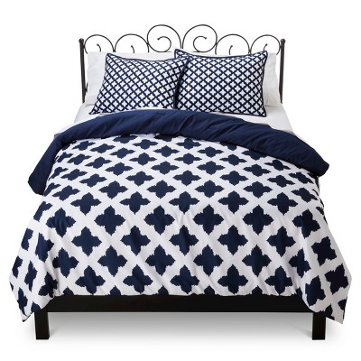 Xhilaration™ Star Reversible Comforter Set - Navy Blue (Full/Queen)