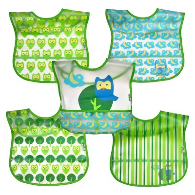green sprouts® 5 Pack Bib - Owl