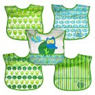 green sprouts® Wipe-off Bibs (5 pack) - Green Owl
