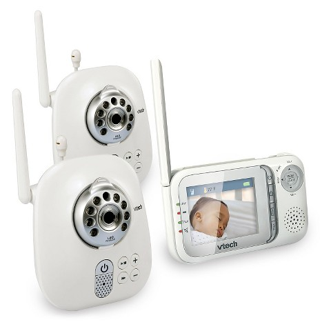VTech Safe & Sound Full Color Video and Audio Monitor with 2 Cameras - VM321-2