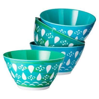 Melamine Dip Bowls Set of 8 - Blue/Green