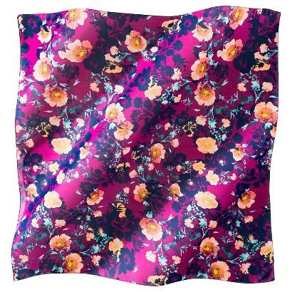 Multicolor Floral Scarf - Fuchsia
