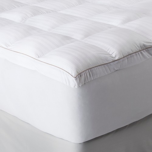 fieldcrest luxury memory fiber mattress topper - white | ebay