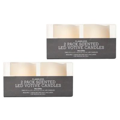 Threshold™ 4 Pack LED Votive Candles - Ivory
