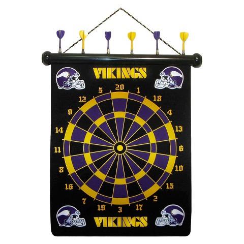 Minnesota Vikings Rico Magnetic Dart Board Set