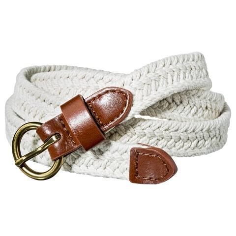 Merona® Skinny Weave Belt - Cream