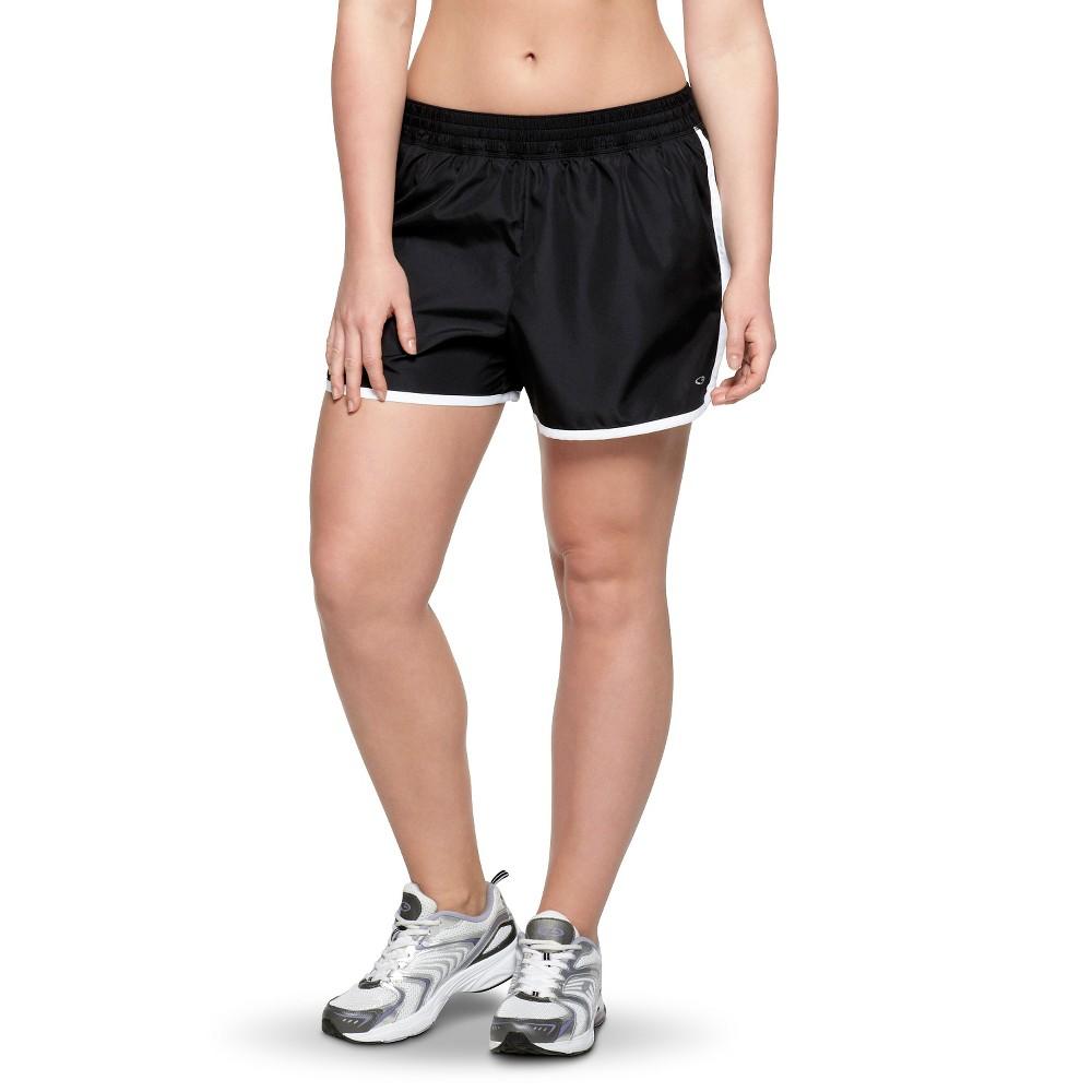 C9 by Champion Women's Plus-Size Woven Run Short - Black