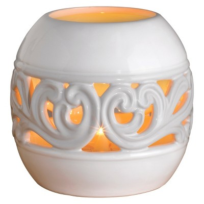 Wax Free Warmer Set-2 Extra Fragrance Disks included - White Deluxe