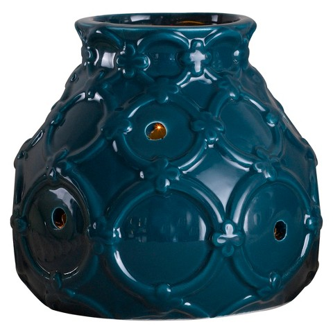 Wax Free Warmer Set-2 Extra Fragrance Disks included - Teal Deluxe