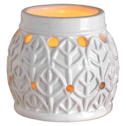 Wax Free Warmer Set-2 Extra Fragrance Disks included - White Leaf