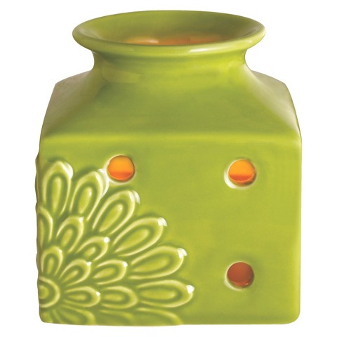Wax Free Warmer Set-2 Extra Fragrance Disks included - Green Square