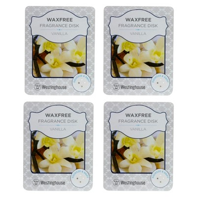 Wax Free Fragrance Disks 4 pack Set - Vanilla