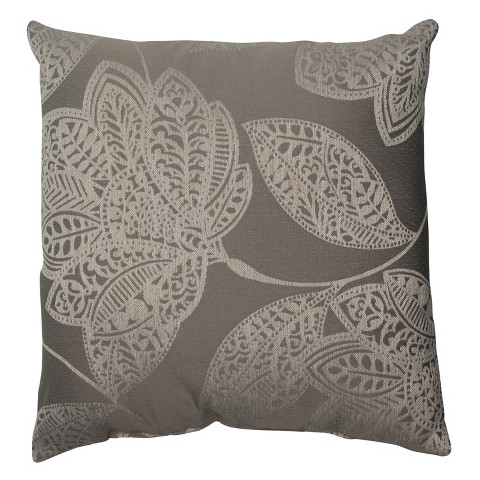 Pillow Perfect Beatrice Floral Toss Pillow - Gray/White