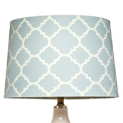 Threshold™ Flocked Ogee Lamp Shade Large - Muddy Aqua/Shell