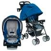 Combi Cabria Stroller and Shuttle Infant Car Seat Bundle - Royal Blue