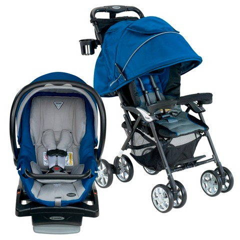 Combi Cabria Stroller and Shuttle Infant Car Seat Bundle - Royal Blue