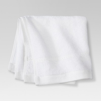 Threshold™ Botanic Fiber Washcloth - True White