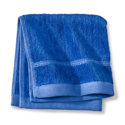 Threshold™ Botanic Fiber Washcloth - Blue Dolphin
