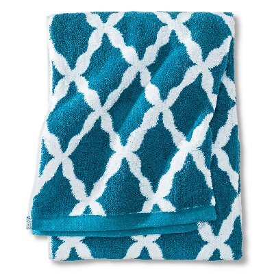 Threshold™ Botanic Fiber Bath Towel - Monte Carlo Turquoise Accent