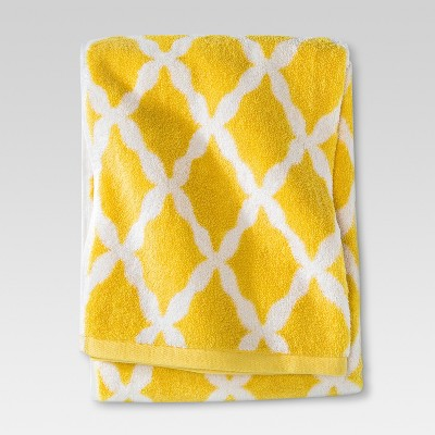 Threshold™ Botanic Fiber Bath Towel - Beehive Yellow Accent