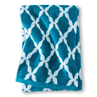 Threshold™ Botanic Fiber Bath Sheet - Monte Carlo Turquoise Accent