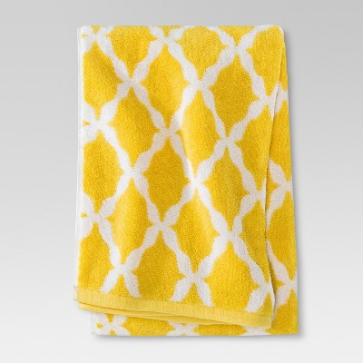 Threshold™ Botanic Fiber Bath Sheet - Beehive Yellow Accent
