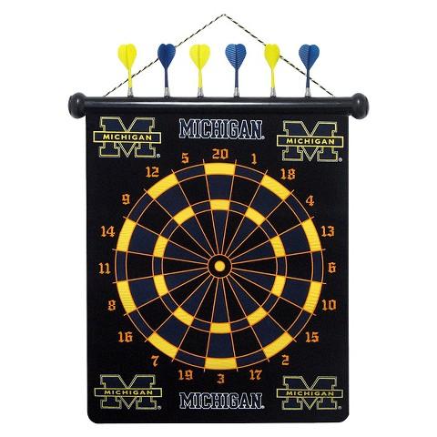 Michigan Wolverines Magnetic Dart Board Set