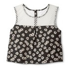 Junior's Lace Back Cropped Top