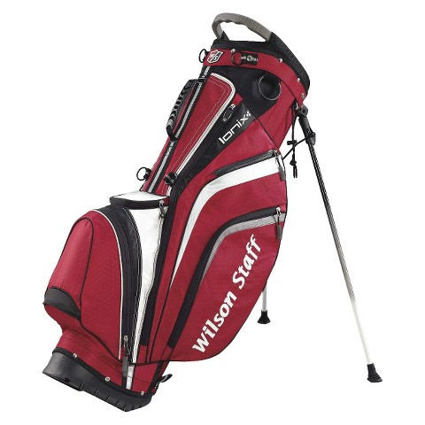 Wilson Staff Ionix Golf Carry Bag - Red