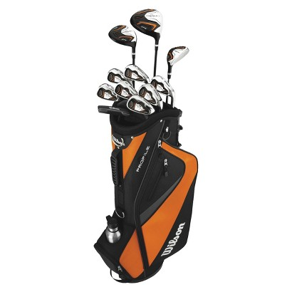 Wilson Teen Right Hand Profile Golf Package Set - Black/Orange