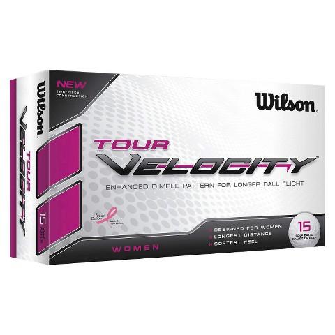 Wilson Tour Velocity Women's Golf Ball - 15-Ball-Pack