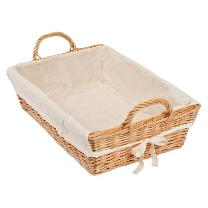 "Burt's Bees Baby™ Rattan Storage Basket with Cotton Liner 18.75""x 5"""